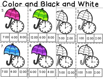 Time Task Cards April Theme Common Core