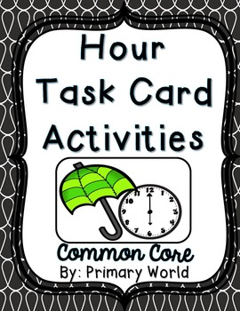 Time Task Cards April Theme Common Core
