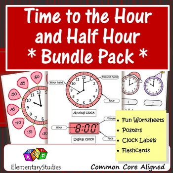 Time to the Hour and Half Hour Bundle