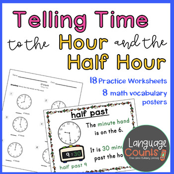 Time to the Hour and Half Hour-1st Grade