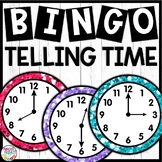 Time to the Hour and Half-Hour Bingo Game