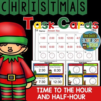 Christmas Time to the Hour and Half-Hour Task Cards