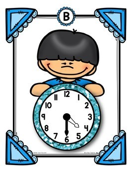 Time to the Hour and Half Hour Math Center
