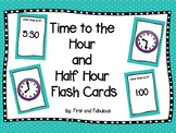 Time to the Hour and Half Hour Flash Cards