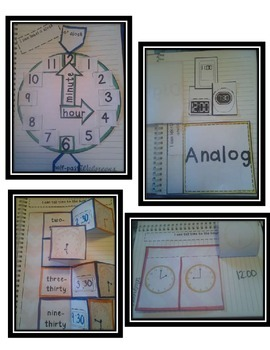 Time to the Hour and Half-Hour Interactive Notebook by The 2 Teaching Divas