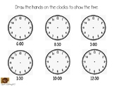 Time to the Hour and Half Hour Seesaw Template