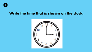 Time to the Hour and Half Hour