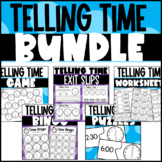 Time to the Hour and Half-Hour: Worksheets, Games, Puzzles, & Exit Slips