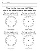 Time to the Hour and Half Hour - Write the Time