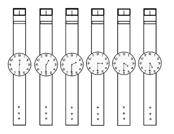 Time to the Hour and Half-hour (digital and analog) Partner Game with Watches