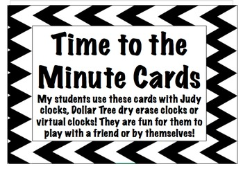 Time to the Minute Cards