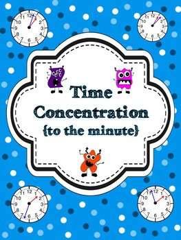 Time to the Minute Concentration {A Math Center Game}
