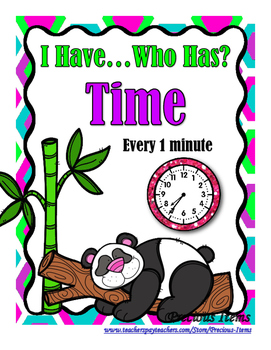 Time to the Minute - I Have, Who Has.....