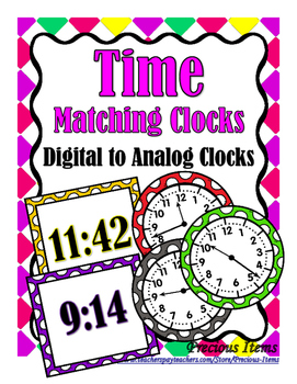Time to the Minute - Matching Digital to Analog Clocks