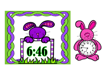 Time to the Minute Matching Game - Bunnies
