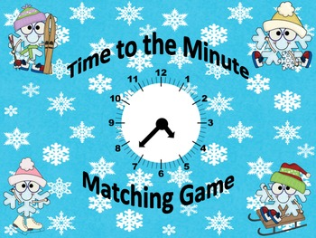 Time to the Minute Matching Game - Math Tubs