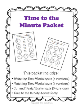 Time to the Minute Packet