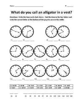 Time to the Minute Riddle