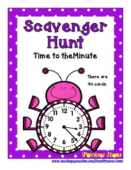 Time to the Minute Scavenger Hunt - Bugs