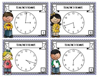 Time to the Minute {Task Cards}