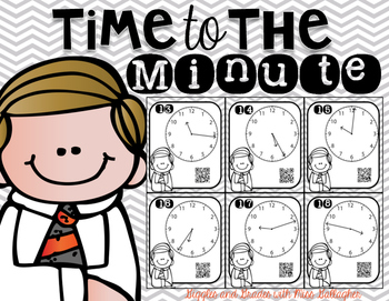 Time to the Minute Task Cards (3.MD.A.1)