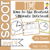 Time to the Nearest 5 Minute Interval Scoot Game and Task Cards