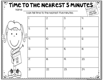 Time to the Nearest 5 Minutes (2.MD.C.7)