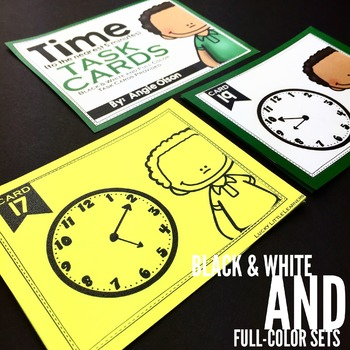 Time to the Nearest 5 Minutes Task Cards
