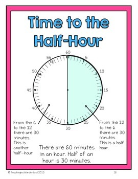 {Grade 3} Time to the Nearest Five Minutes Activity Packet