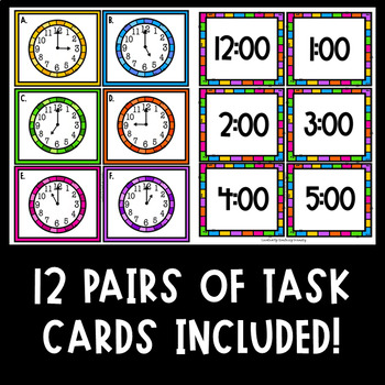 Time to the Nearest Hour Task Cards