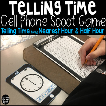 Time to the Nearest Hour and Half Hour Cell Phone Game