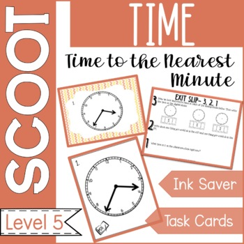 Time to the Nearest Minute Scoot Task Cards and Game