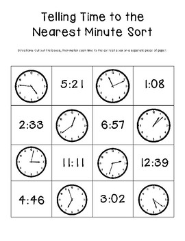 Time to the Nearest Minute Sort