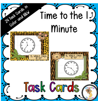 Time to the One Minute Task Cards