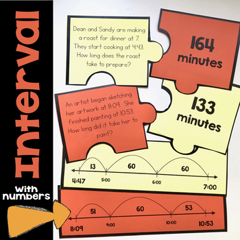 Time to the One-Minute & Time Interval Word Problems Number Puzzles