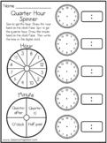 Time - Quarter Hour - Analog / Digital - Classroom Spinner