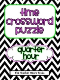 Time to the Quarter Hour Crossword Puzzle