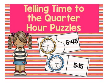 Time to the Quarter Hour Puzzles