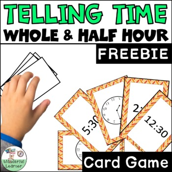 Time to the Whole and Half Hour Go Fish Review Game