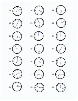 Time: Reading a clock (to the fives) Dot to Dot Activities