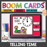 Time to the hour and half hour Boom Cards
