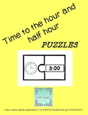Time to the hour and half hour PUZZLES