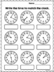Time to the minute - Worksheets