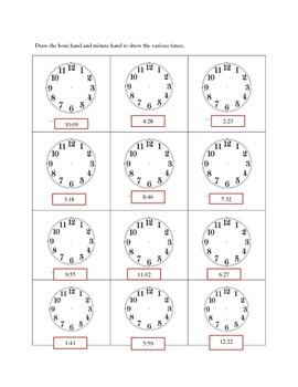 Time to the minute and elapsed time