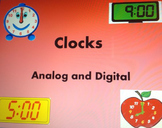 Active board activities for Time with Analog and Digital Clocks