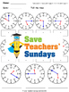 Telling Time in Numbers and Words Worksheets (4 levels of difficulty)