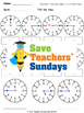 Telling Time in Numbers and Words Worksheets (4 levels of