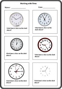 Time worksheet - Digital and Analogue grade 2 upwards