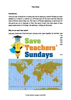 Time zones lesson plan and worksheet by save teachers sundays tpt time zones lesson plan and worksheet ibookread Download