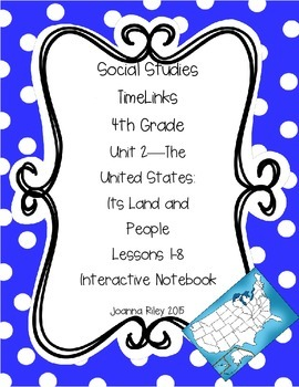 TimeLinks - 4th Grade Unit 2 - The US: Its Land and People - Interactive NB